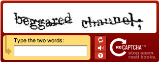 reCAPTCHA example with text