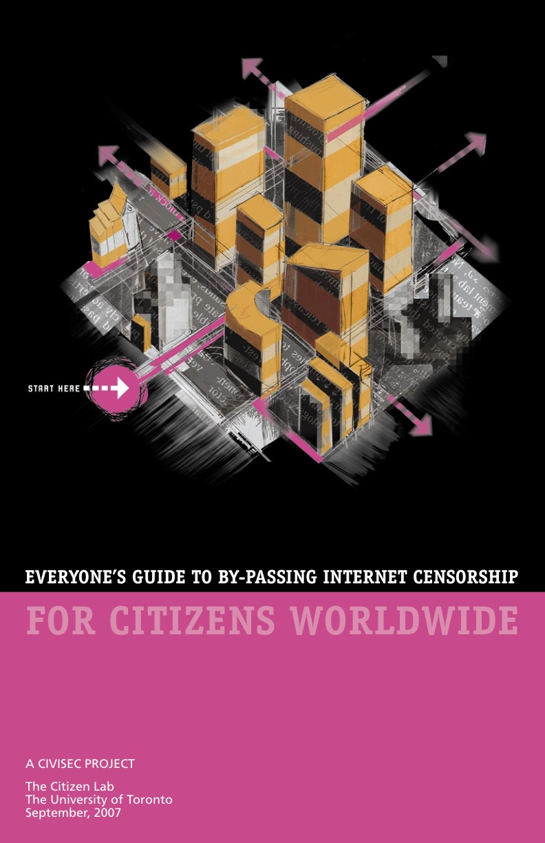 "Cover of ""Everyone's Guide to By-Passing Internet Censorship for Citizens Worldwide"""