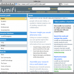 Example of a Lumifi window that is cropped because the browser window is not large enough.