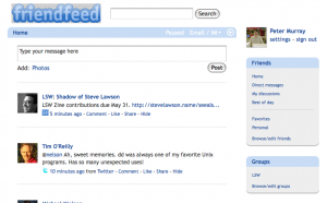 FriendFeed anterface after Greasemonkey/Stylish changes