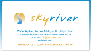 SkyRiver Technology's Pre-launch Homepage