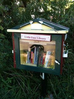 Little Free Library, near Cafe Zoma