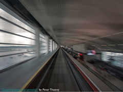"Picture: ""Zooming along the terminal"" by Peter Thoeny"