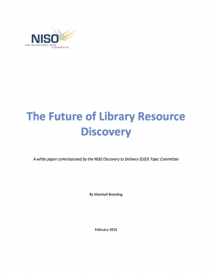 Cover page from the NISO white paper